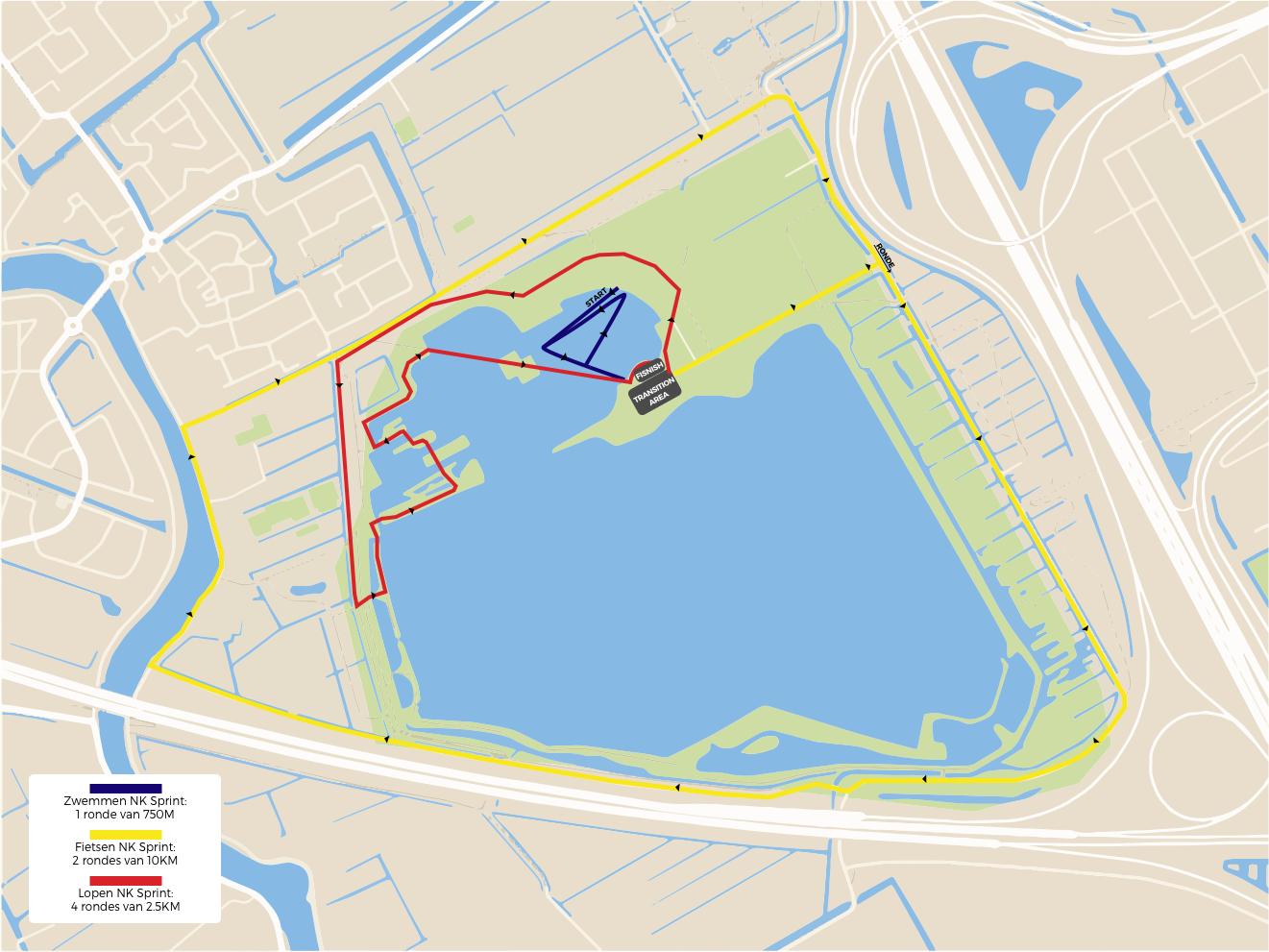 Parcours NK Sprint Eredivisie
